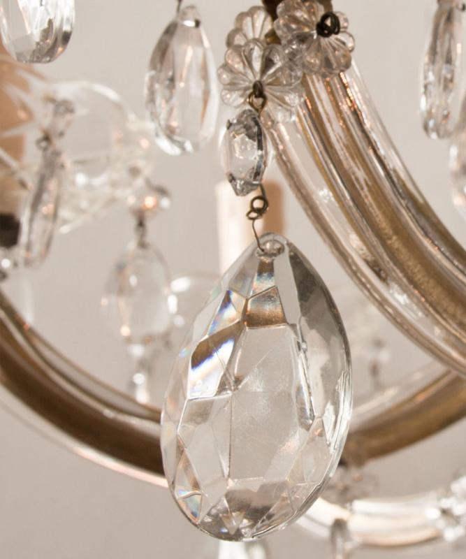 Großer Marie Therese Kronleuchter auf 2 Ebenen mit 12 Lichter