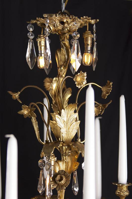 Vergoldeter Louis XV Kronleuchter
