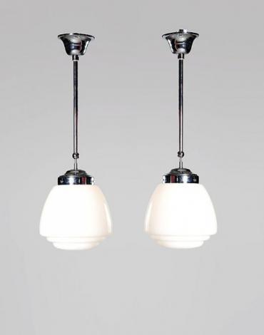 melkglazen vintage lampen