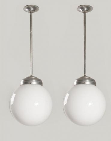 set melkglazen design vintage lampen