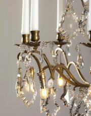 Franse antieke kaarsenkroonluchter met Led lampjes