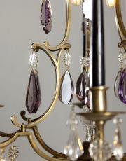 Antiker Französischer Kerzen Kronleuchter mit Led Beleuchtung
