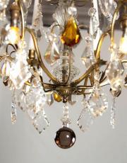 Antiker Französischer Kronleuchter mit LED und Kerzen