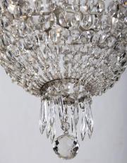 Antiker Französischer Kristall Perlentasche