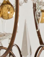Italian chandelier yellow drops