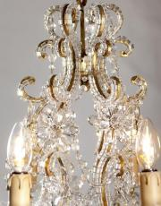 Italian crystal chandelier with crystal drops
