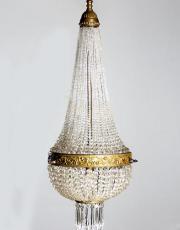 Antike Französische Kristall Perlentasche
