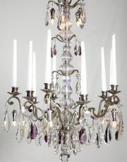 Antiker silberner Kerzen Kronleuchter