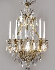 Antique birdcage chandelier from France