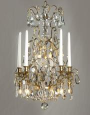 Antique bronze French chandelier