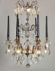Antique candle chandelier with LED lights