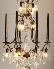 Black antique chandelier