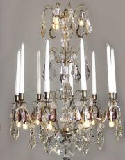 French silver antique chandelier