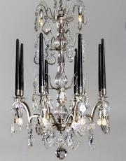 Silber antike Kristall Kerzen Kronleuchter aus Frankreich