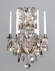 Silberner Französischer antiker Kronleuchter mit Led Beleuchtung