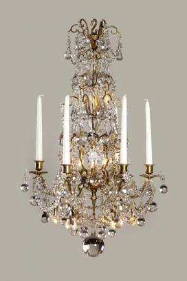 19e eeuwse kristallen kroonluchter