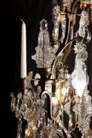 Französischer antiker Louis XV Kronleuchter