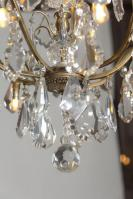 Antieke Franse kaarsen kroonluchter met verlichting