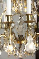 Antiker bronzer Französischer Kronleuchter